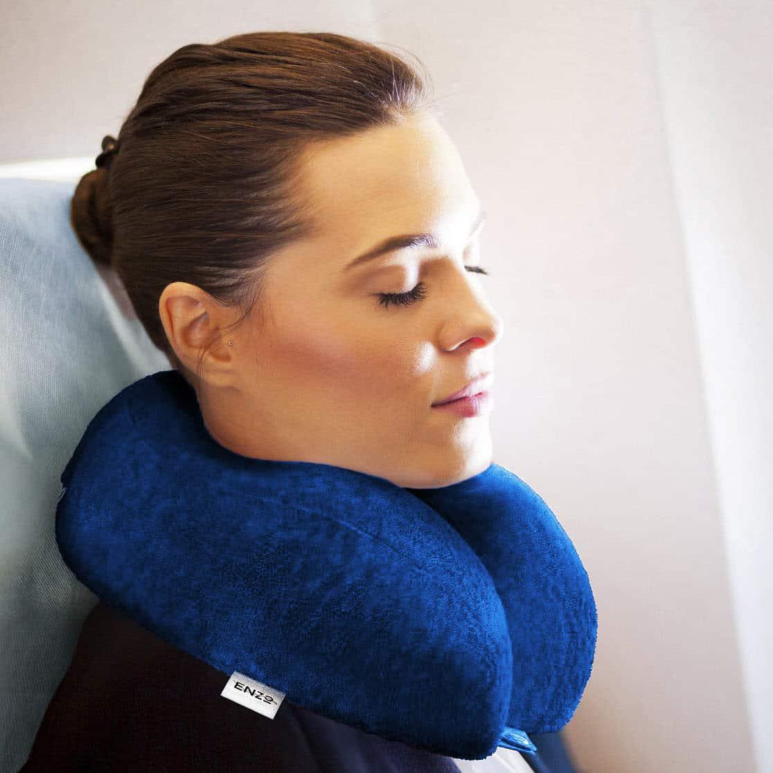 Midnight Sky Blue Premium Travel Pillow Enzo Shop Get