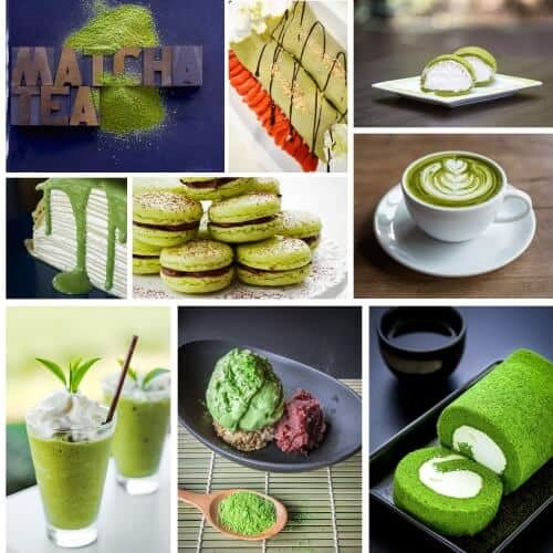 matcha green tea drinks dessert