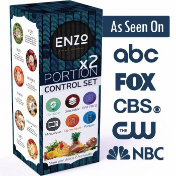 As seen on News Website Enzo Portion Control Set of 2